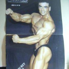 Coleccionismo deportivo: POSTER DEL CULTURISTA RAMON REY POLO. REVISTA MUSCLEMAG EDICIÓN ESPAÑOLA. MEDIDAS 27,5X55CMS. Lote 9988059