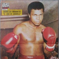 Coleccionismo deportivo: POSTER CENTRAL DE AS COLOR: CASSIUS CLAY. MOHAMED ALI ( BOXEO ) AÑO 1971. Lote 10554755