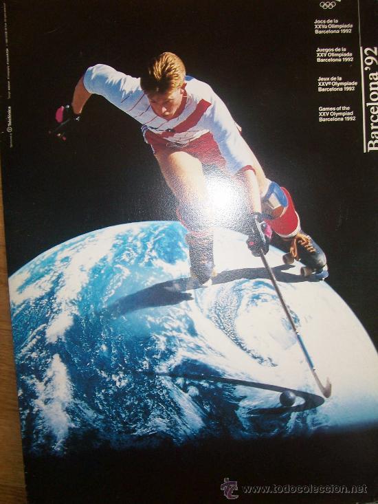 Coleccionismo deportivo: Lote de 27 carteles Barcelona 92 Juegos de la XXV Olympiada 44x31 cms cartulina - Foto 2 - 24539002