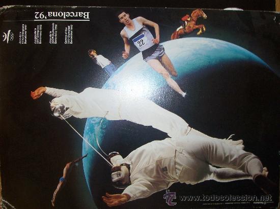 Coleccionismo deportivo: Lote de 27 carteles Barcelona 92 Juegos de la XXV Olympiada 44x31 cms cartulina - Foto 3 - 24539002