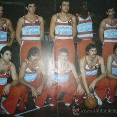 Coleccionismo deportivo: CARTEL DEPORTIVO DE BALONCESTO C.D. MANRESA LA CASERA TEMPORADA 1975-76. Lote 10830497