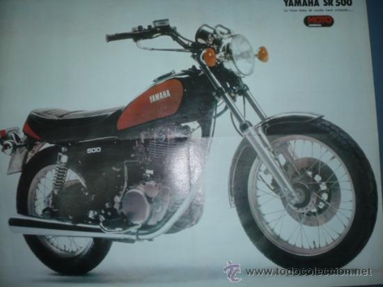 CARTEL DE MOTOCICLISMO DEPORTIVO MODELO YAMAHA SR 500 (Coleccionismo Deportivo - Carteles otros Deportes)
