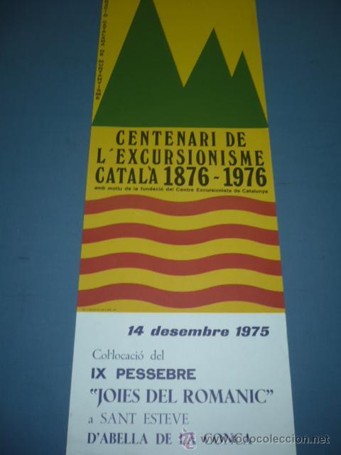 CARTEL DE MONTAÑISMO CENTENARI DE L'ESCURSIONISME CATALA 1876-1896 (Coleccionismo Deportivo - Carteles otros Deportes)