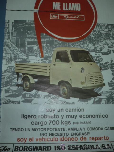 CARTEL DEPORTIVO DEL CAMION ISO (Coleccionismo Deportivo - Carteles otros Deportes)