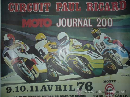 CARTEL DEPORTIVO CIRCUIT PAUL RICART AÑO 1976 TAMAÑO 450X550 (Coleccionismo Deportivo - Carteles otros Deportes)