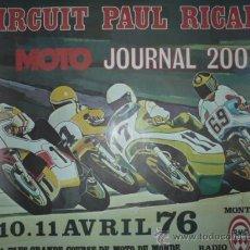 Coleccionismo deportivo: CARTEL DEPORTIVO CIRCUIT PAUL RICART AÑO 1976 TAMAÑO 450X550. Lote 10860716