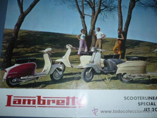 CARTEL DEPORTIVO LAMBRETTA SCOOTERLINEA 125-150 (Coleccionismo Deportivo - Carteles otros Deportes)