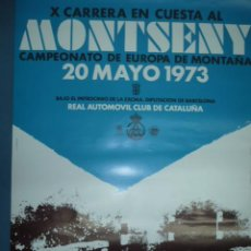 Coleccionismo deportivo: CARTEL DEPORTIVO X CARRERA EN CUESTA MONTSENY CAMPTº EUROPA 1973 MEDIDAS 60 X 40 CMS. Lote 14749472