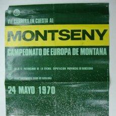 Coleccionismo deportivo: VII CARRERA EN CUESTA AL MONTSENY. CAMPEONATO DE EUROPA DE MONTAÑA. RACC. 1970. 62 X 40 CM. . Lote 12411208