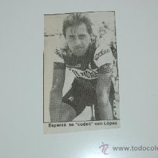 Coleccionismo deportivo: CICLISMO : RECORTE DE ESPARZA. 1988. Lote 12607240