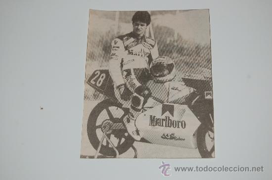 MOTOCICLISMO : RECORTE DE ALEX CRIVILLÉ. 1988 (Coleccionismo Deportivo - Carteles otros Deportes)