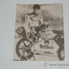 Coleccionismo deportivo: MOTOCICLISMO : RECORTE DE ALEX CRIVILLÉ. 1988. Lote 12754607