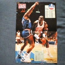 "Coleccionismo deportivo: POSTER NBA AS AÑOS 80 NEW JERSEY NETS, DARREL ""GORILA"" DAWKINS. Lote 26251102"
