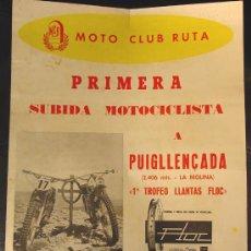 Coleccionismo deportivo: PRIMERA SUBIDA MOTOCICLISTA A PUIGLLENÇADA. LA MOLINA. AÑO 1960. Lote 26792108