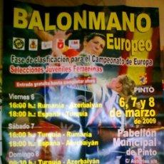 Coleccionismo deportivo: CARTEL BALONMANO FEMENINO ESPAÑA - TURQUIA - AZERBAIYAN - RUMANIA. Lote 26638624
