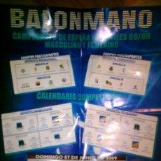 Coleccionismo deportivo: CARTEL BALONMANO CAMPEONATO ESPAÑA INFANTILES. Lote 15673621