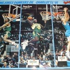 Coleccionismo deportivo: POSTER CONCURSO MATES Y ALL STARS NBA 1991. MAGIC JOHNSON, JORDAN, BARKLEY, ETC. Lote 27108676