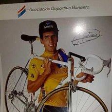 Coleccionismo deportivo: POSTER DE MIGUEL INDURAIN FIRMADO Y EDITADO POR EL DIARIO INFORMACION 1992. Lote 115343062