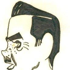 Coleccionismo deportivo: JOSÉ BERMUDEZ.CARICATURA ORIGINAL, 14X10 CM. AÑOS 30-40. Lote 17677659