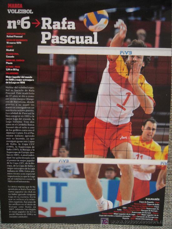 VOLEIBOL - RAFA PASCUAL (Coleccionismo Deportivo - Carteles otros Deportes)