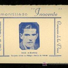 Coleccionismo deportivo: CICLISMO. FOTOGRAFIA PUBLICITARIA DEL CAMPEON CICLISTA DE MALAGA Y MELILLA DE 1939-40 JOSE MIÑARRO.. Lote 19802386