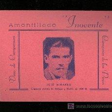 Coleccionismo deportivo: CICLISMO. FOTOGRAFIA PUBLICITARIA DEL CAMPEON CICLISTA DE MALAGA Y MELILLA DE 1939-40 JOSE MIÑARRO.. Lote 19802390