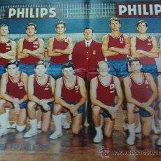 Coleccionismo deportivo: CARTEL SELECCION ESPAÑOLA BALONCESTO 5ª CLASIFICADA EUROCOPA 1969. Lote 20179899