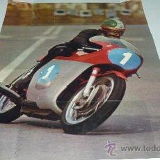Coleccionismo deportivo: GIACOMO AGOSTINI. POSTER AÑOS 60/70. (60 X 46 CTMS.). Lote 21782342