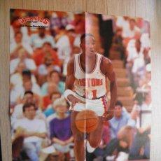Coleccionismo deportivo: ISIAH THOMAS - POSTER DETROIT PISTONS - REVISTA GIGANTES - NBA BASKET. Lote 21817422