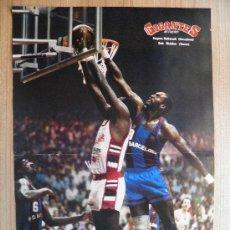 Coleccionismo deportivo: PÓSTER - ESPECTACULAR TAPON EUGENE MCDOWELL (BARCELONA) A BOB MCADOO (TRACER) BASKET GIGANTES. Lote 21817637