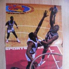Coleccionismo deportivo: POSTER KAREEM ABDUL JABBAR (LAKERS) CUMPLE 41 AÑOS - ESPECTACULAR GANCHO - BASKET NBA GIGANTES.. Lote 21817815