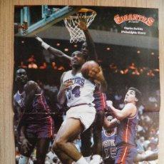 Coleccionismo deportivo: POSTER CHARLES BARKLEY (SIXERS) RODEADO DE MITICOS PISTONS - NBA BASKET REVISTA GIGANTES. Lote 21818206