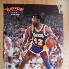 Coleccionismo deportivo: POSTER JAMES WORTHY (LAKERS) MVP FINAL - NBA BASKET REVISTA GIGANTES. Lote 21818343