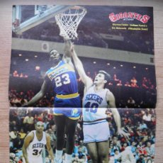 Coleccionismo deportivo: POSTER: TISDALE (PACERS) Y MCCORMICK (SIXERS) - BASKET NBA REVISTA GIGANTES. Lote 21819075