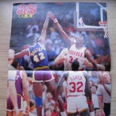 Coleccionismo deportivo: POSTER NBA OLAJUWON (ROCKETS) Y JAMES WORTHY (LAKERS) - NBA BASKET. Lote 21819342