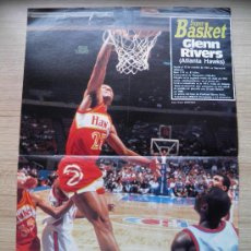 Coleccionismo deportivo: POSTER GLENN RIVERS (ATLANTA RIVERS) - NBA REVISTA SUPER BASKET. Lote 21819435