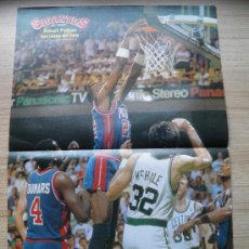 Coleccionismo deportivo: POSTER DETROIT PISTONS LOS REYES DEL ESTE VS BOSTON CELTICS NBA BASKET REVISTA GIGANTES MCHALE. Lote 21819563