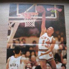Coleccionismo deportivo: POSTER MARK JACKSON (NEW YORK KNICKS) HACIENDO UN MATE - NBA BASKET REVISTA GIGANTES. Lote 21819648