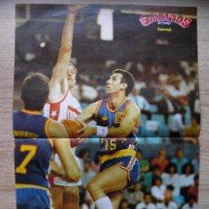 Coleccionismo deportivo: POSTER SUPEREPI - JUAN ANTONIO SAN EPIFANIO - NBA BASKET REVISTA GIGANTES. Lote 21819707