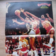 Coleccionismo deportivo: POSTER PAUL PRESSEY (MILWAUKEE BUCKS) CONTRA HAWKS DE ATLANTA - NBA BASKET REVISTA GIGANTES. Lote 21819848