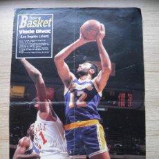 Coleccionismo deportivo: POSTER: VLADE DIVAC (LAKERS) - REVISTA SUPER BASKET NBA. Lote 21820260