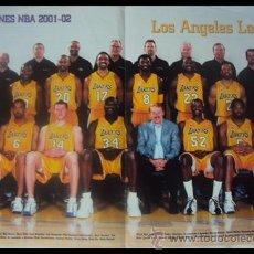 Coleccionismo deportivo: LOS ANGELES LAKERS CAMPEONES NBA 2001-2002. PÓSTER. Lote 22515258