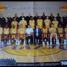 Coleccionismo deportivo: LOS ANGELES LAKERS FINALISTAS NBA 2007-2008. PÓSTER. Lote 22515280