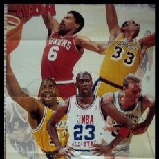 Coleccionismo deportivo: MAGIC, BIRD, JORDAN, JULIUS, KAREEM. NBA. PÓSTER. Lote 22649529