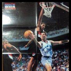 Coleccionismo deportivo: JOHN STOCKTON. NBA. ENTRADA A CANASTA. PÓSTER. Lote 22819869