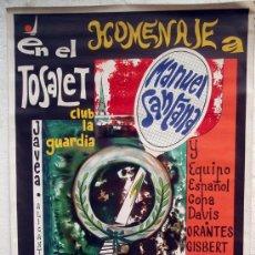 Coleccionismo deportivo: CARTEL TENIS, HOMENAJE A MANOLO SANTANA EN JAVEA , 1970, LITOGRAFIA , ILUSTRADOR CALLEJA. Lote 22907807