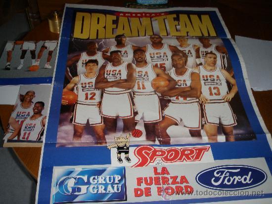 DREAM TEAM -SPORT- BALONCESTO - (Coleccionismo Deportivo - Carteles otros Deportes)