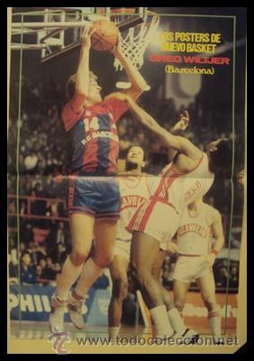 GREG WILTJER F.C.BARCELONA BALONCESTO 1985-1986. PÓSTER (Coleccionismo Deportivo - Carteles otros Deportes)
