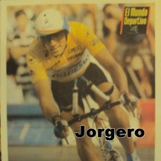 Coleccionismo deportivo: MIGUEL INDURAIN TETRACAMPEÓN DEL TOUR 91-92-93-94. PÓSTER. Lote 30539868