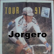 Coleccionismo deportivo: MIGUEL INDURAIN TOUR 91. PÓSTER. Lote 24963061
